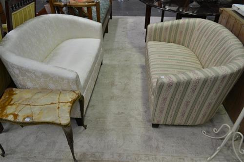 2 Un-matching Upholstered 2 Seater Sofas