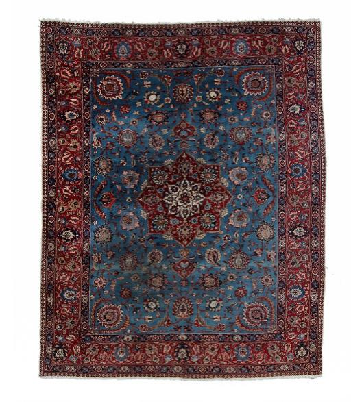 A Tabriz carpet, Persia. Medallion design