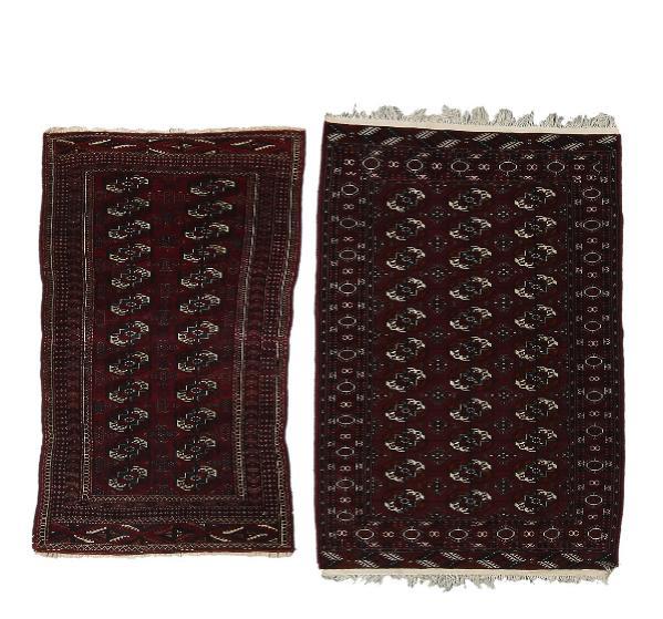 Two Bochara rugs, Turkmenia