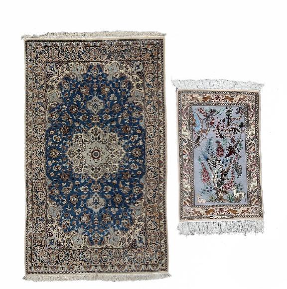 Two Persian rugs. Nain and Isfahan.(2)
