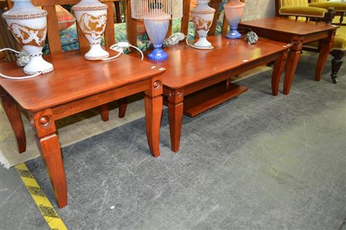 Late Victorian Oak Lady's & Gentleman's Chairs, with spindle galleries & gold striped velvet