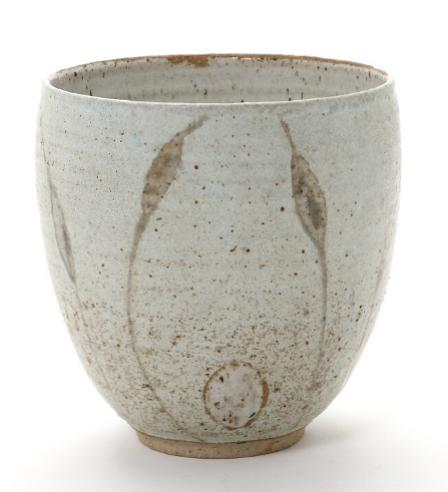 High stoneware bowl