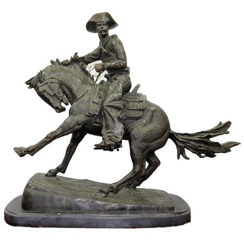 Bronze Figure Group 'Cowboy'