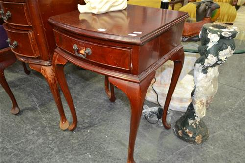 Pair of Timber Bedsides on Cabriole Legs