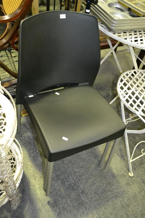 Pair Of Plastic Stacking Chairs