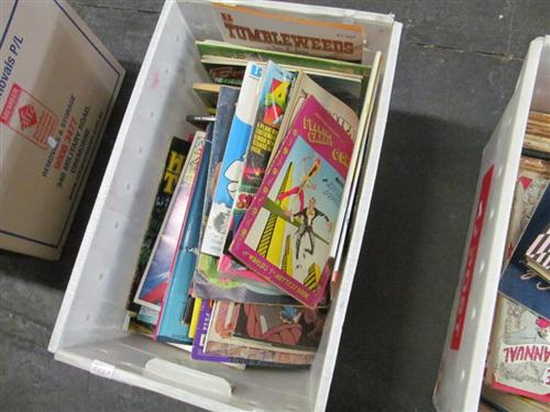 """Box of Various Comics incl. """"Warlord of Mars""""; """"Tumbleweeds""""; """"All-Action Monthly""""; etc"""