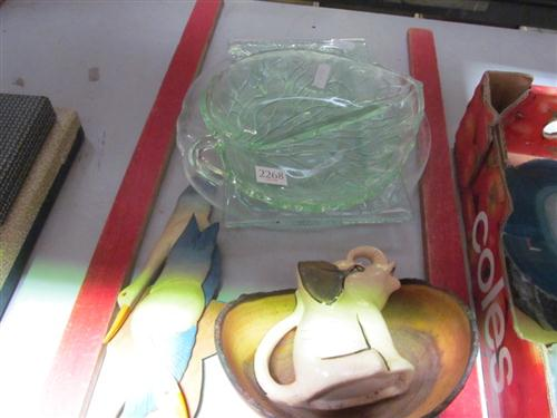 Glass Dishes with Other Wares incl Elephant Jug