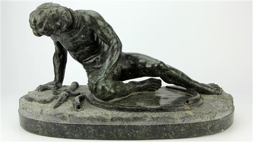 Green Marble 'The Dying Gaul' Figure