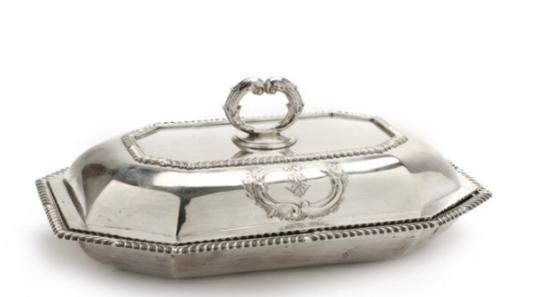A George III silver covered entree dish