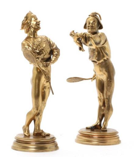 Two gilt-bronze figurines