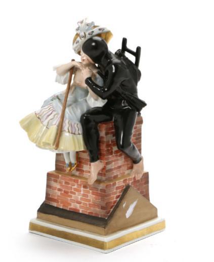 """Shepherdess & Chimneysweep"" porcelain figurine. 1276"