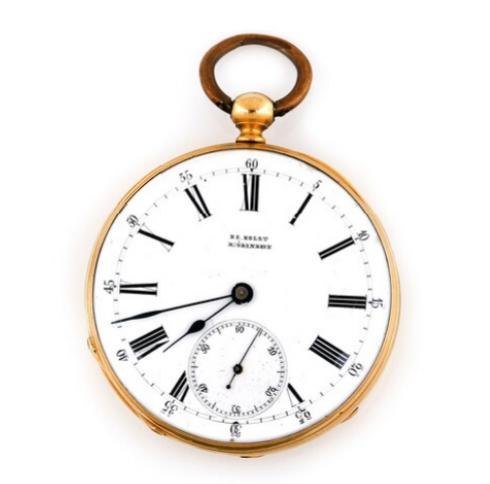 A 18k gold open-face pocket watch, dial marked H. E. Holst Kjöbenhavn