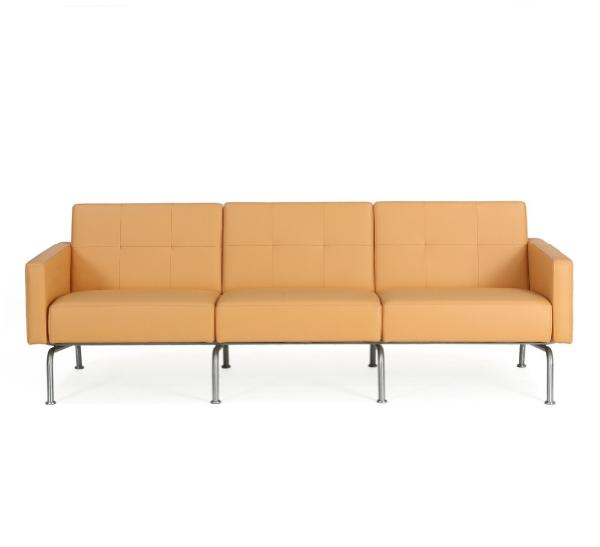Three seater sofa with steel frame