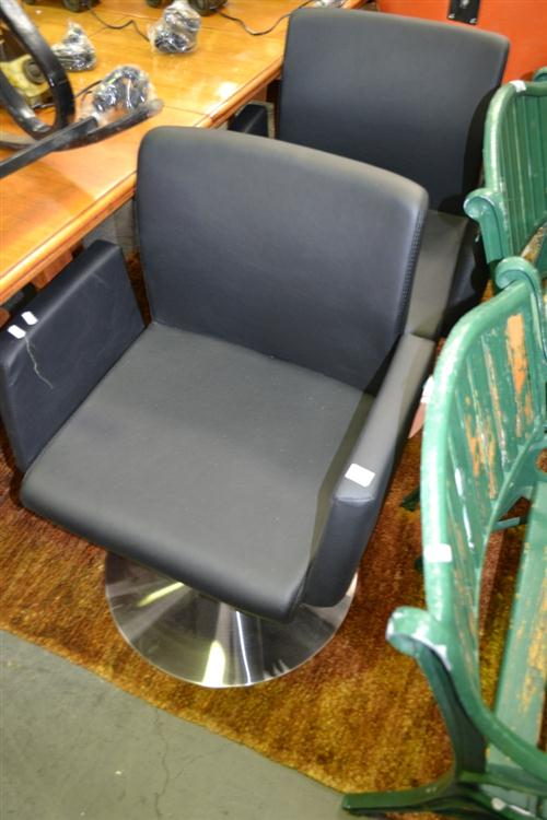 Pair Of Reception Chairs On Round Bases
