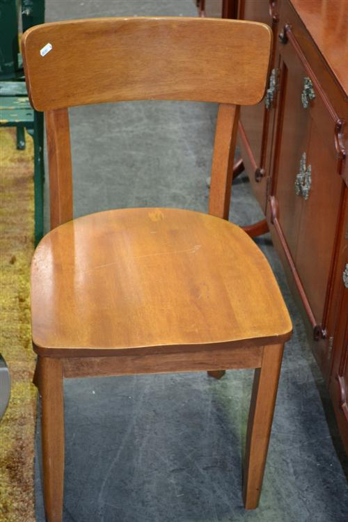 Set of 4 Timber Dining Chairs