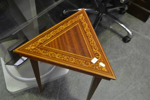 Small Inlaid Triangular Table