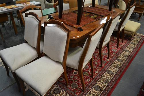 Timber 9 Piece Dining Suite inc Extension Table and 8 Chairs