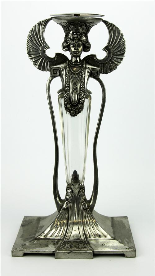 WMF Art Nouveau Double Sided Figural Silver Plated Centrepiece Base