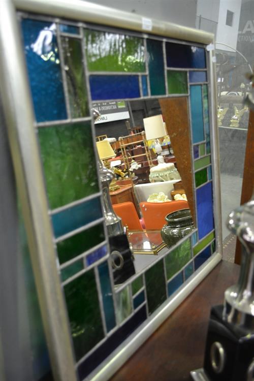 Leadlight Framed Mirror