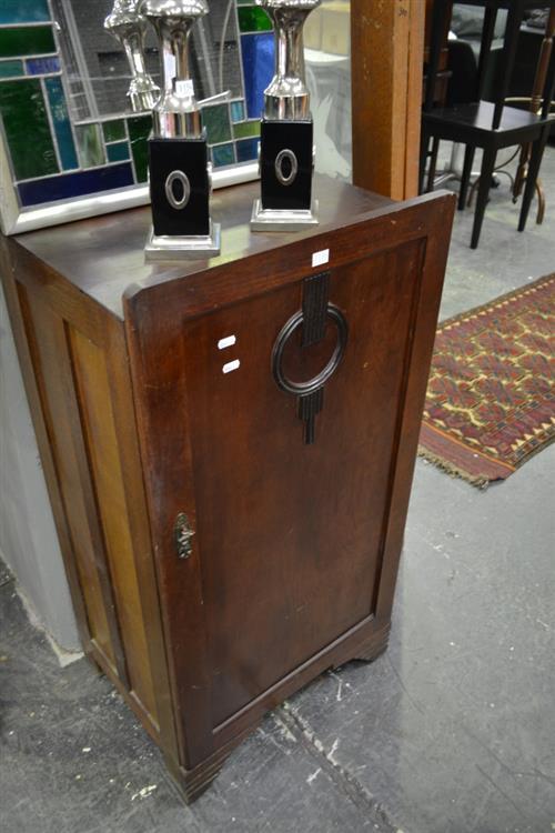 Art Deco Single Door Pot Cupboard