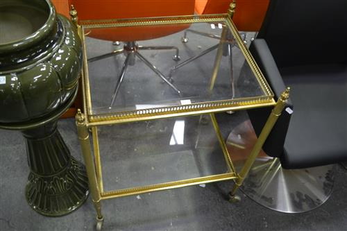 Brass 2 Tier Serving Trolley