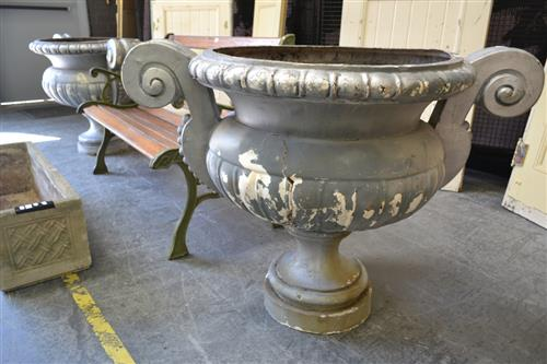 Pair of Large Resin Garden Urns