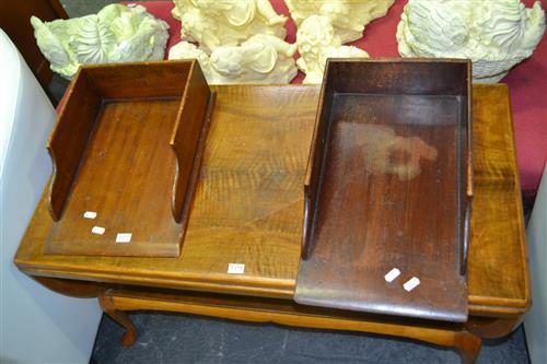 Pair of Timber Desk Tidies