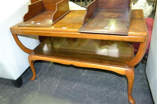 Timber 2 Tier Coffee Table on Cabriole Legs