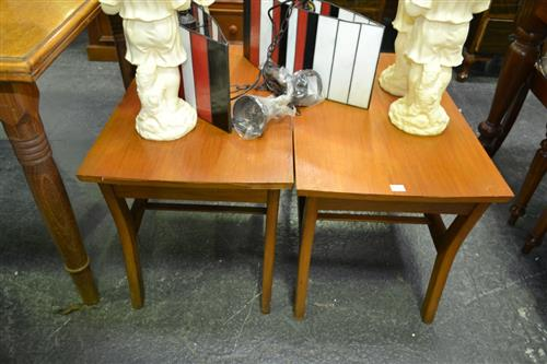 Pair of Teak Side tables with Single Drawers