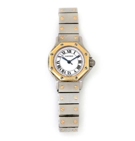A lady's wristwatch of steel and gold