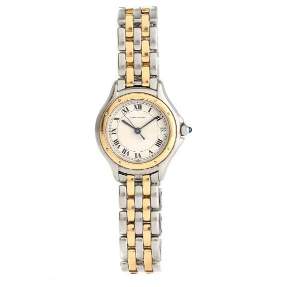 Lady's wristwatch of steel and gold