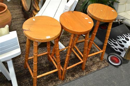 3 Timber Bar Stools