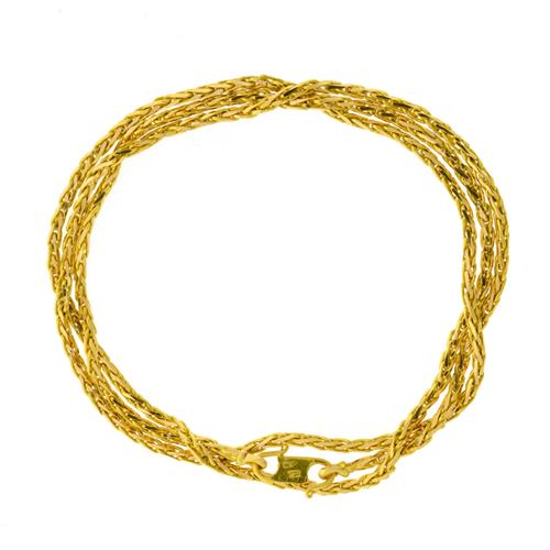A 18CT GOLD FOXTAIL CHAIN