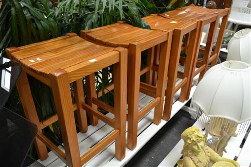 Five Timber Stools