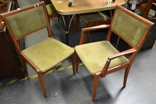 Set of 6 parker Dining Chairs inc 2 Carvers