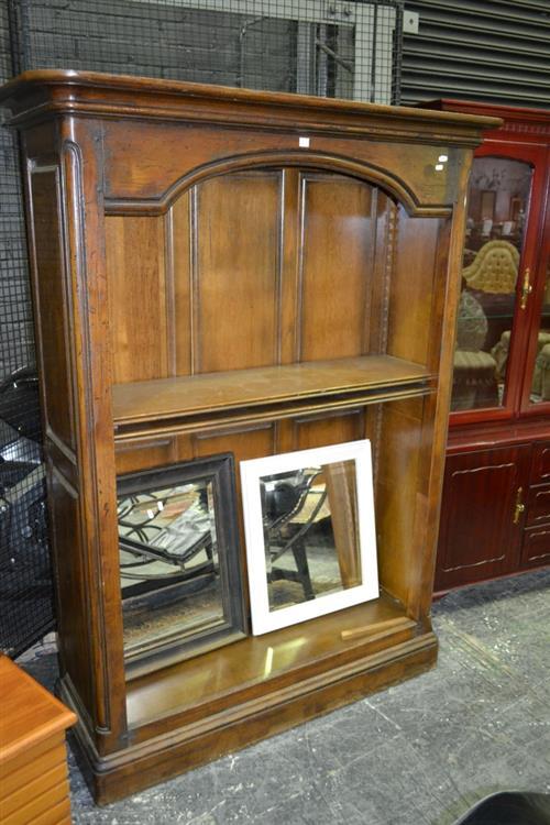 French Provincial Oak Open Bookcase