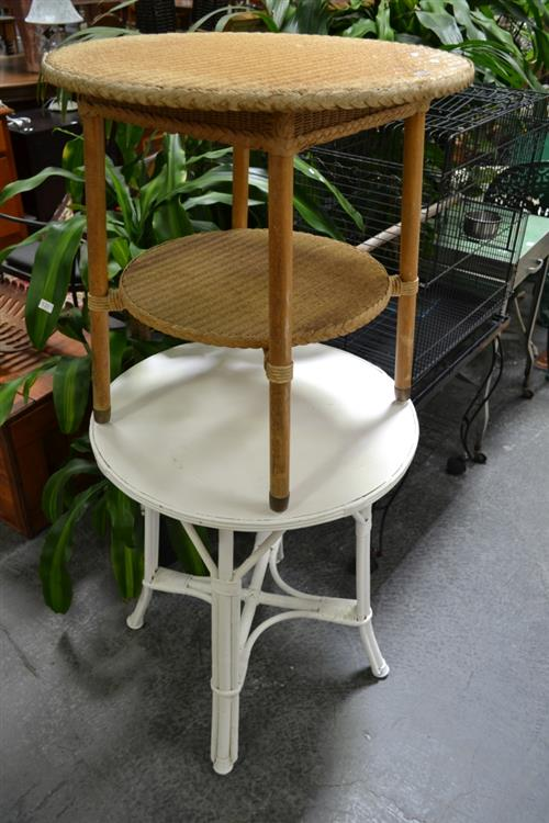 Two Circular Side Tables