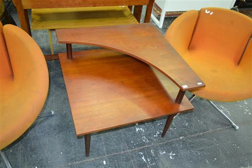 1970s Teak Coffee Table With Shelf