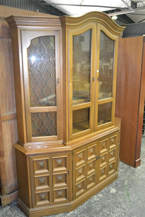 Timber Sideboard w Bookcase Top
