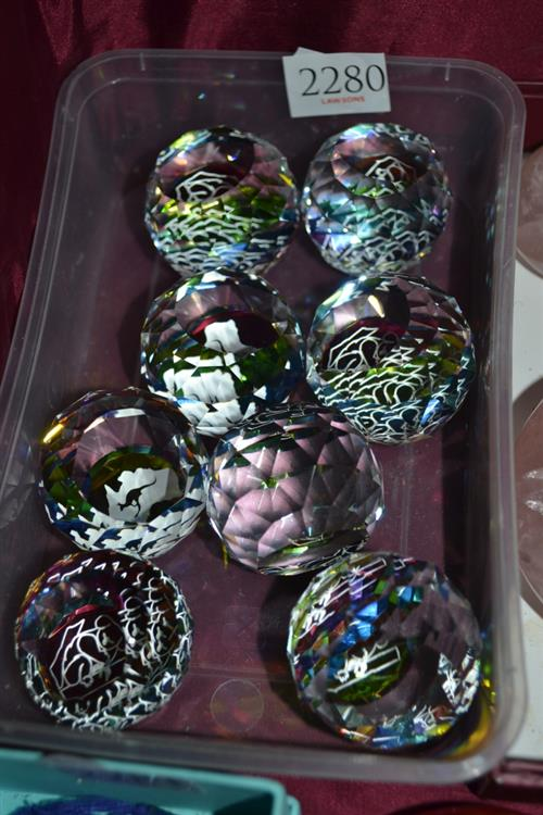 8x Crystal Paperweights
