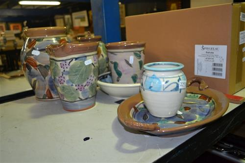 Australian Pottery Wares incl Signed