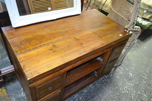 Timber Four Drawer Cabinet