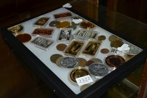 Glass top with Coins & Ingots