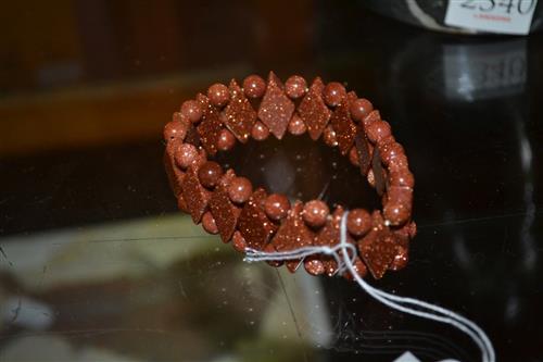 A Sunstone Bracelet, on stretch cord