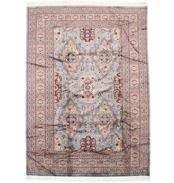 A 20th century Kashmir carpet, silk on wool