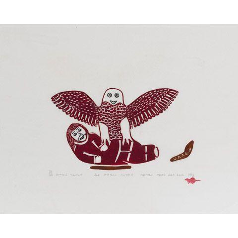 AN ESKIMO TAKEN BY AN OWL