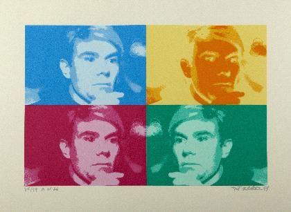 Four coloured Warhol
