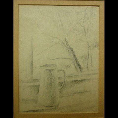 PITCHER ON WINDOW LEDGE