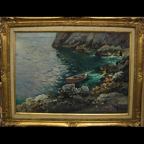 ROWBOAT IN COVE