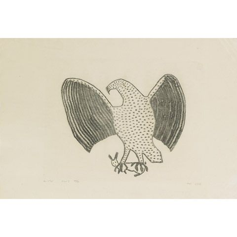 EAGLE WITH RABBIT